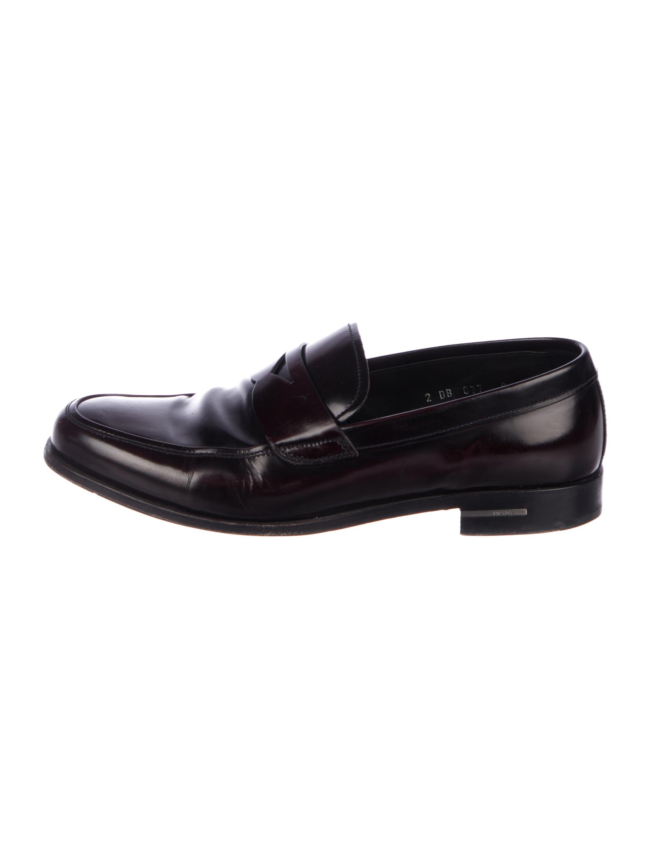 d2ae3c9e17a Prada Leather Penny Loafers - Shoes - PRA243103
