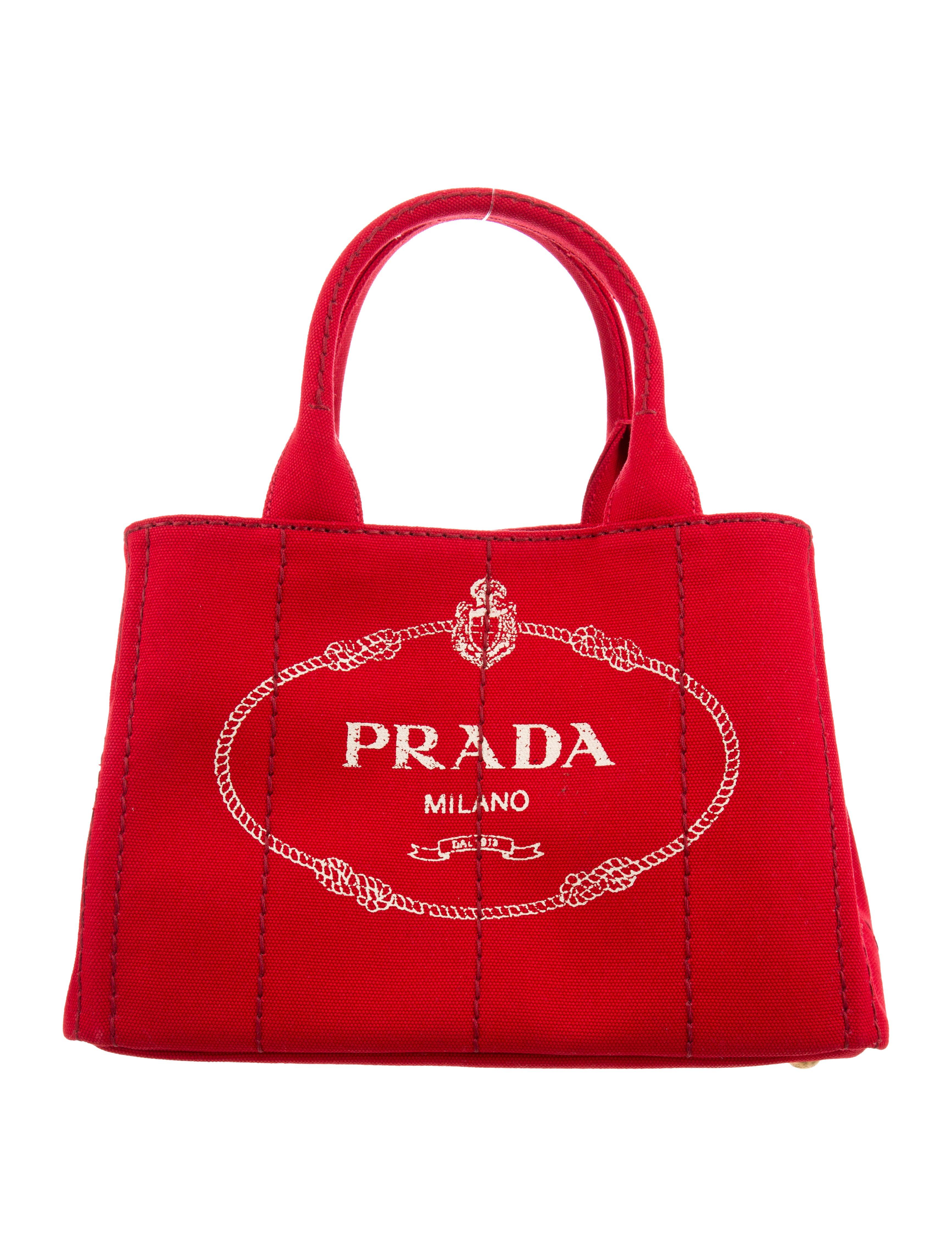 41f7d7775b88 Prada Canvas Logo Tote - Handbags - PRA243529 | The RealReal