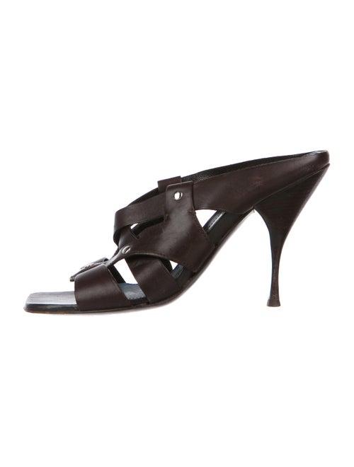 efd365b146f8 Prada Leather Slide Sandals - Shoes - PRA243736