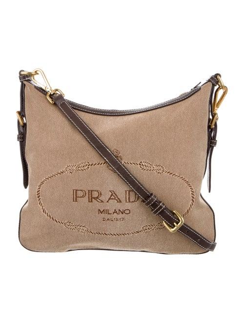 833c525f9a Prada Leather-Trimmed Canvas Crossbody - Handbags - PRA244916