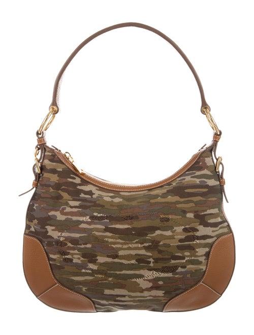 4e7159ed06 Prada Leather-Trim Camouflage Hobo - Handbags - PRA247014