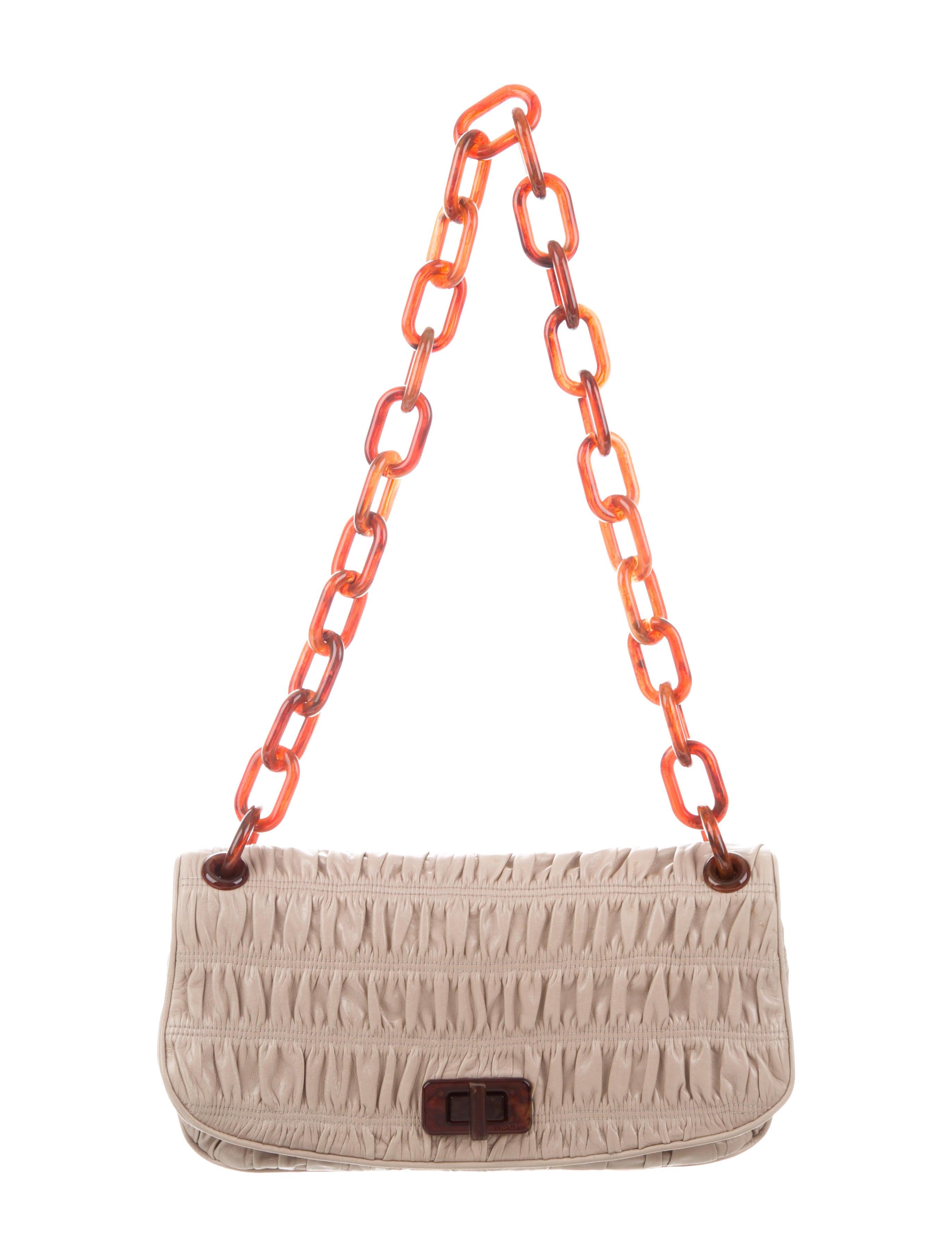 Prada Capretto Gaufre Bag - Handbags - PRA247260   The RealReal 53f3088b5d
