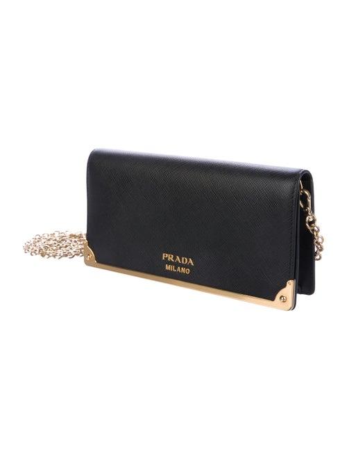 97e231846bd2 Prada 2018 Saffiano Wallet On Chain - Handbags - PRA247396 | The ...