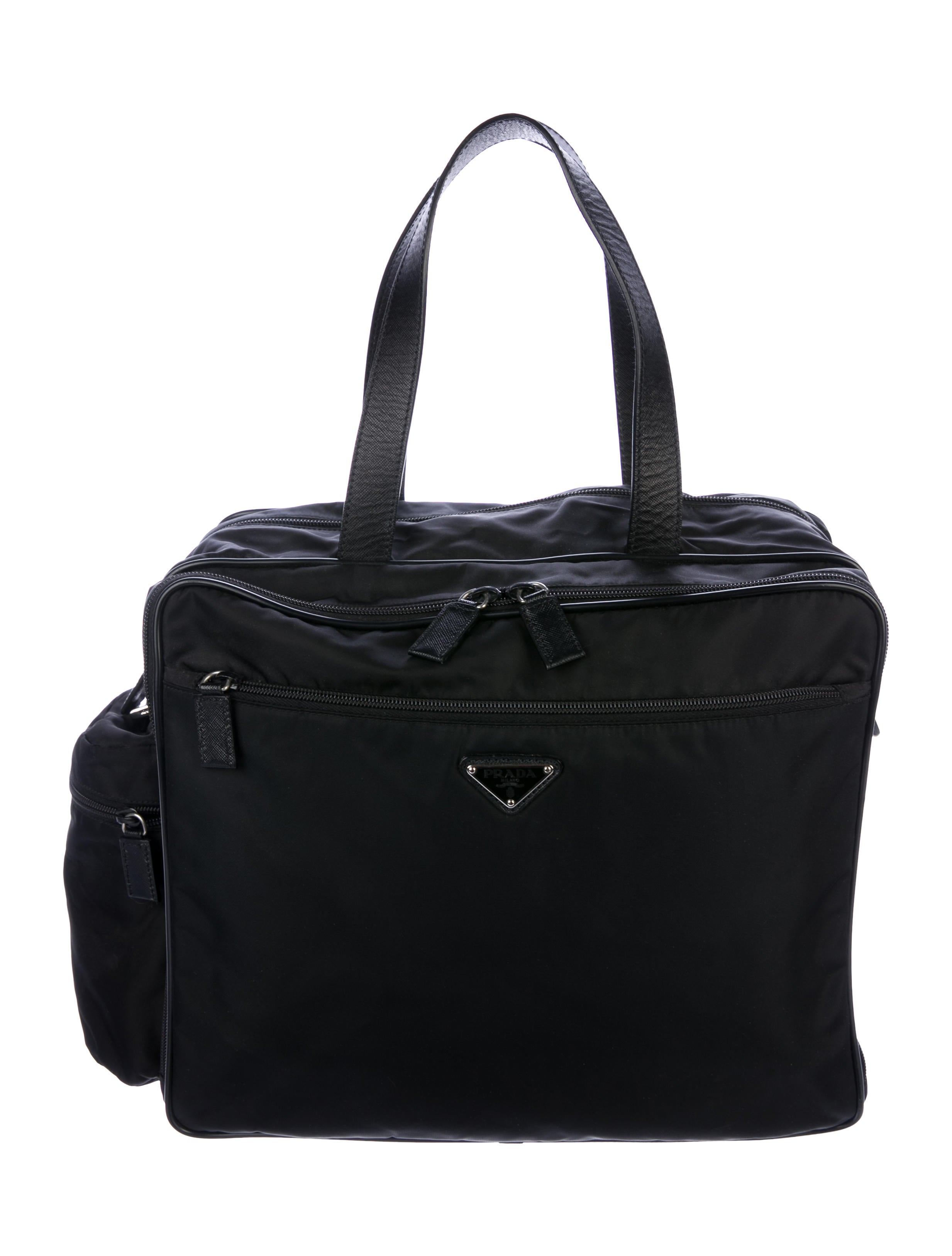 93839ec3bb9a Prada Tessuto Diaper Bag - Handbags - PRA247556   The RealReal