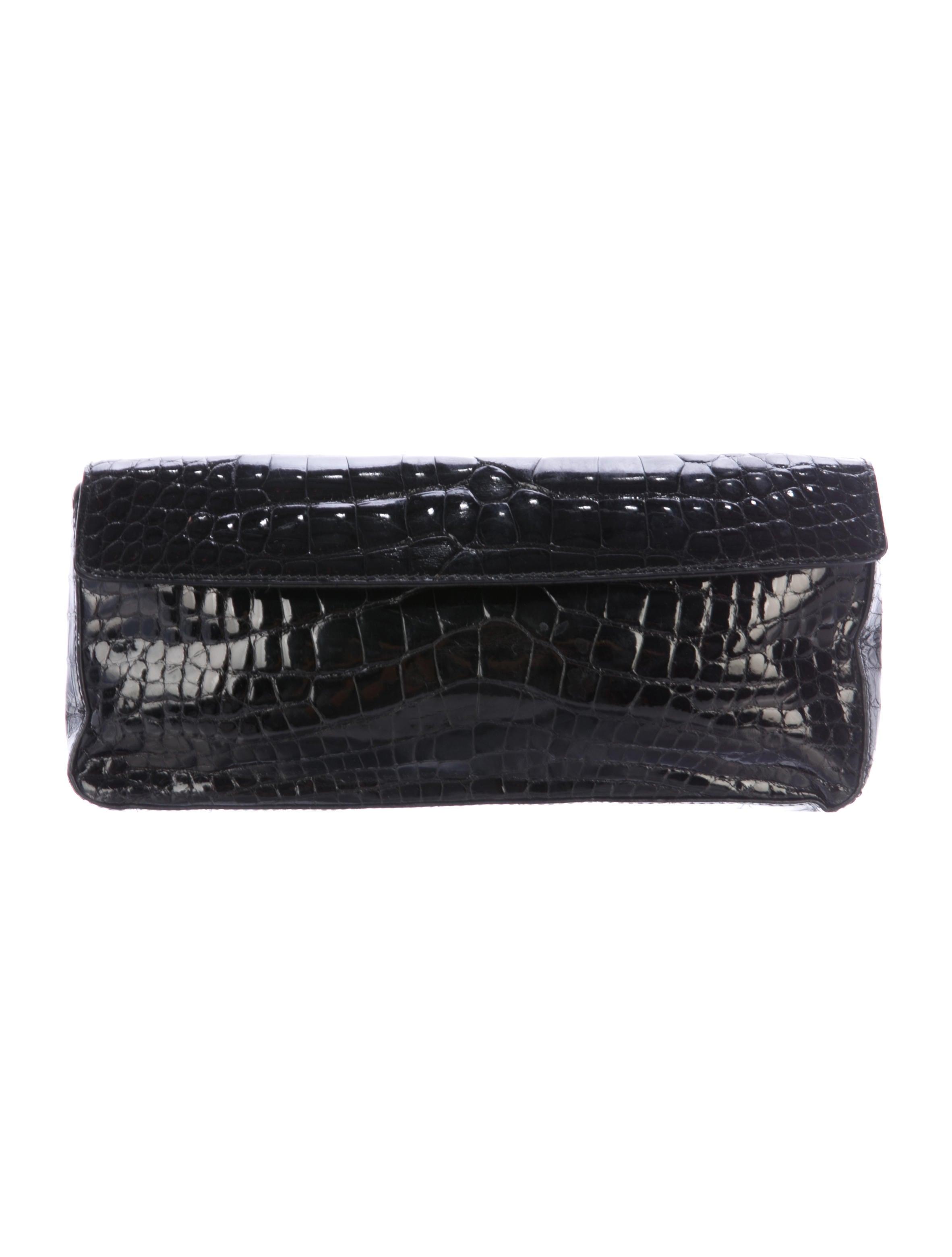 b85f252ae176 Prada Glazed Crocodile Clutch - Handbags - PRA249320 | The RealReal