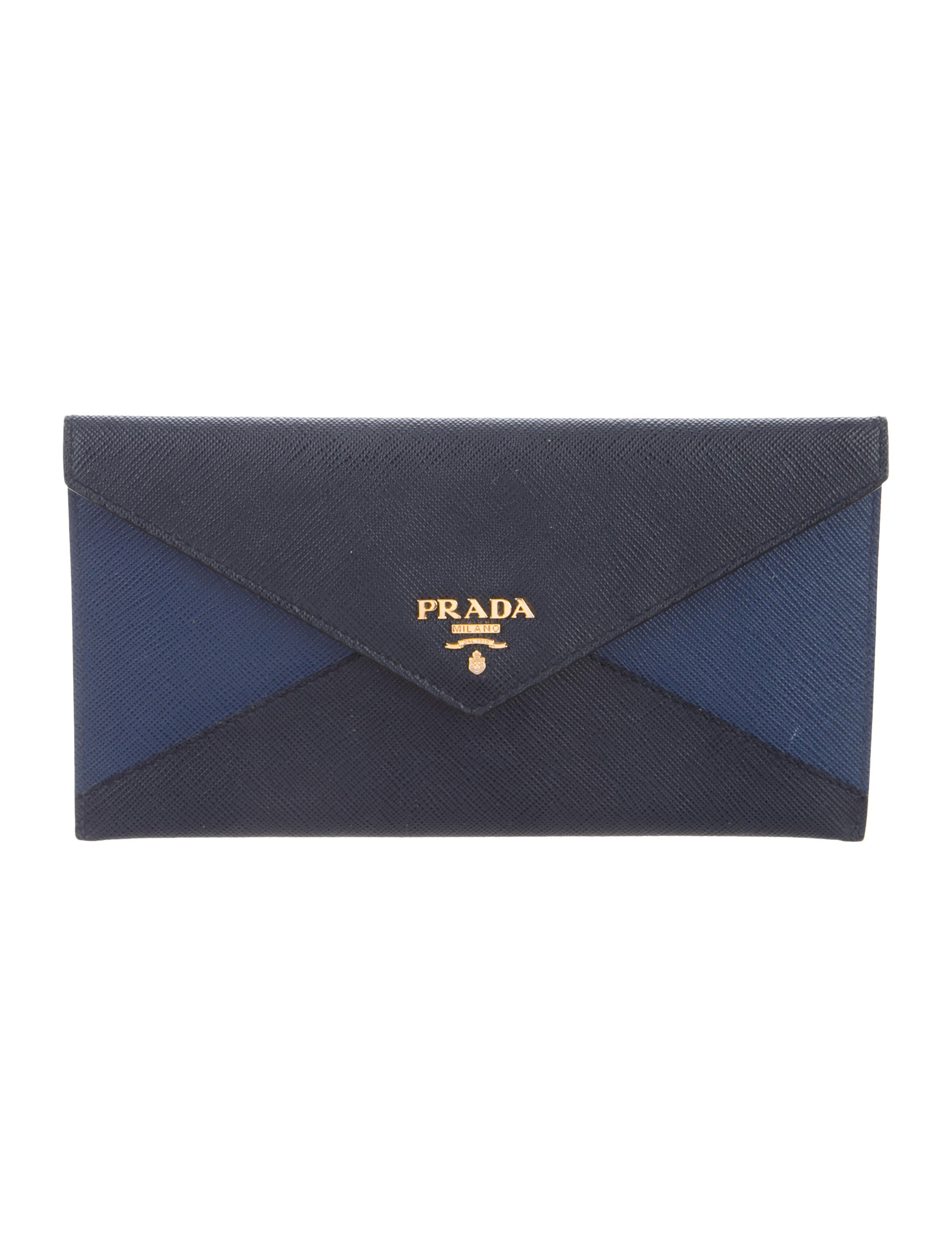 b30174bfbbd2f5 Prada Saffiano Bicolor Envelope Wallet - Accessories - PRA250461 ...
