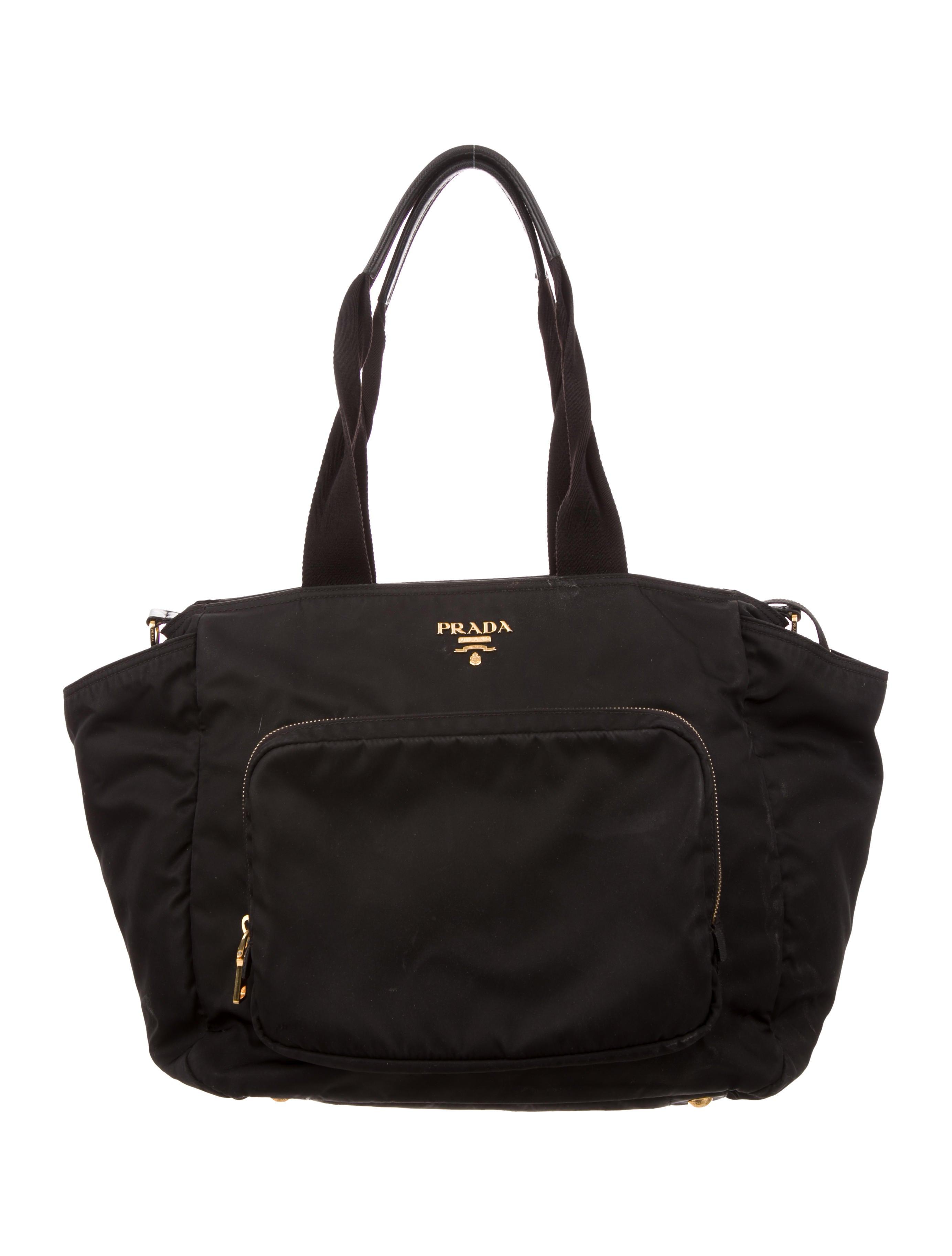 eb4764cd9072 cheap prada nylon diaper bag lyst 4bb5f 9b443; uk prada tessuto diaper bag  handbags pra253511 the realreal 89225 78e0c