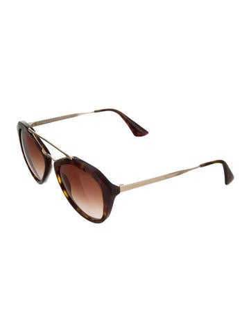6b3dee1234 Prada. Gradient Aviator Sunglasses