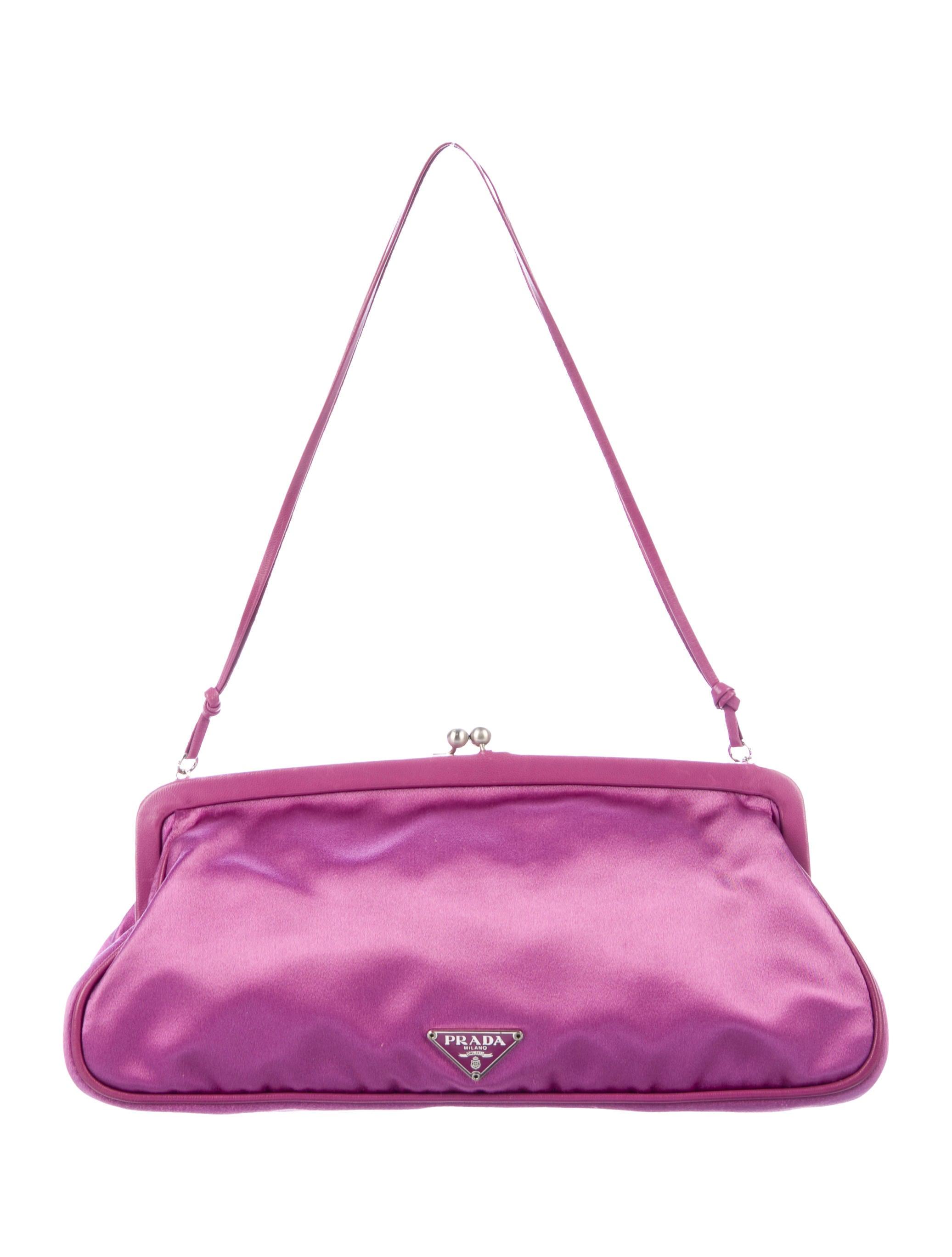 971ae6eca2ef Prada Satin Frame Evening Bag - Handbags - PRA263267 | The RealReal