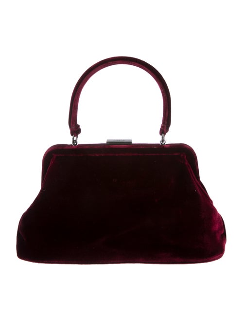 dedac9d4d78f Prada Velvet Frame Handle Bag - Handbags - PRA264155