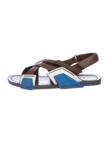 9fcfe8e92f049 Leather Slide Sandals. Size  US 9.5