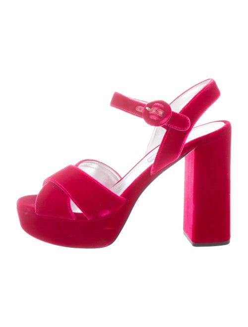 c75ef1632 Prada Velvet Platform Sandals - Shoes - PRA268405