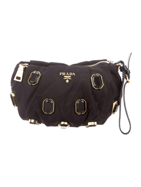 8be207dc9372 Prada Tessuto Pietre clutch - Handbags - PRA268646   The RealReal