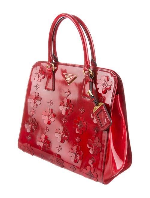 1c7fdc3a51df Prada Spazzolato Floral Applique Tote - Handbags - PRA268667