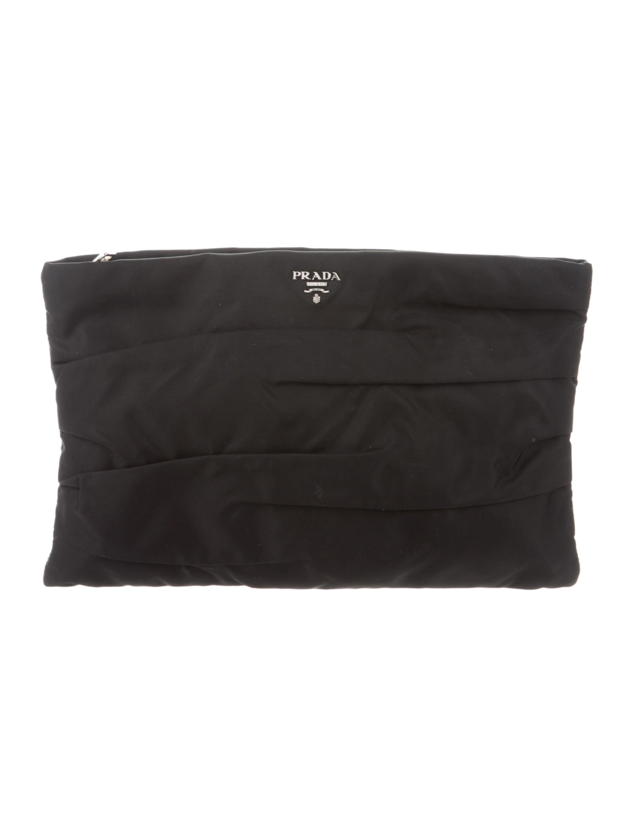 c561419c10d5 Prada Tessuto Zip Clutch - Handbags - PRA268901