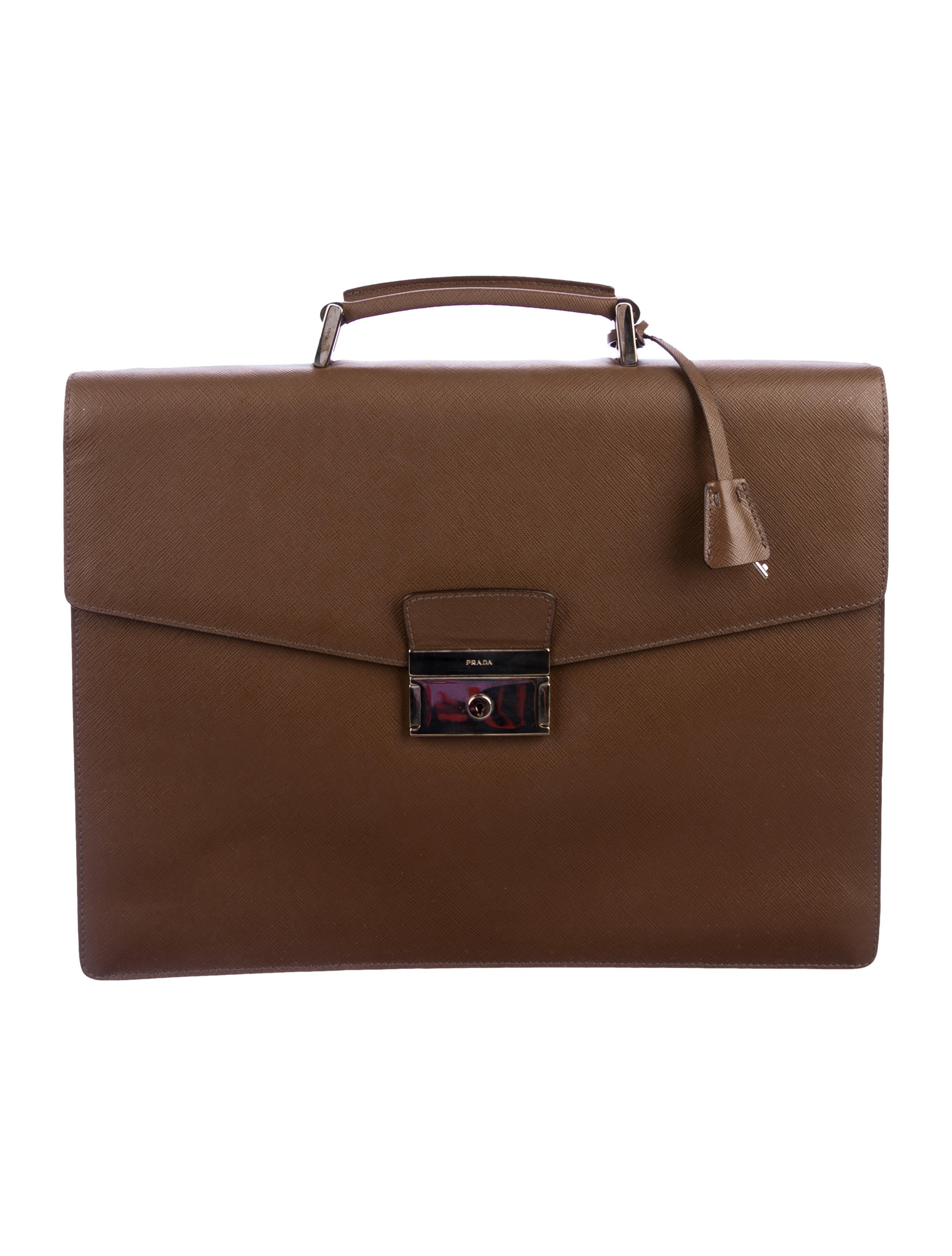 Prada Saffiano Leather Flap Briefcase - Bags - PRA269437  5831ccbe0695c