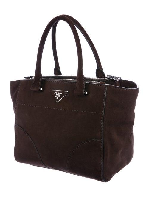 311f0e71518a Prada Suede City Twin Pocket Tote - Handbags - PRA269446 | The RealReal