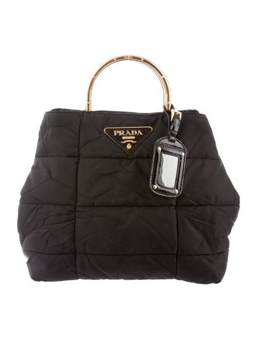 Quilted Tessuto Satchel by Prada