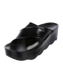 f0b558537b4e Prada. Leather Flatform Sandals