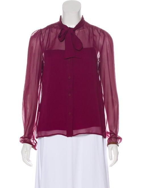 0abdba10c377 Prada Silk Button-Up Blouse - Clothing - PRA269804