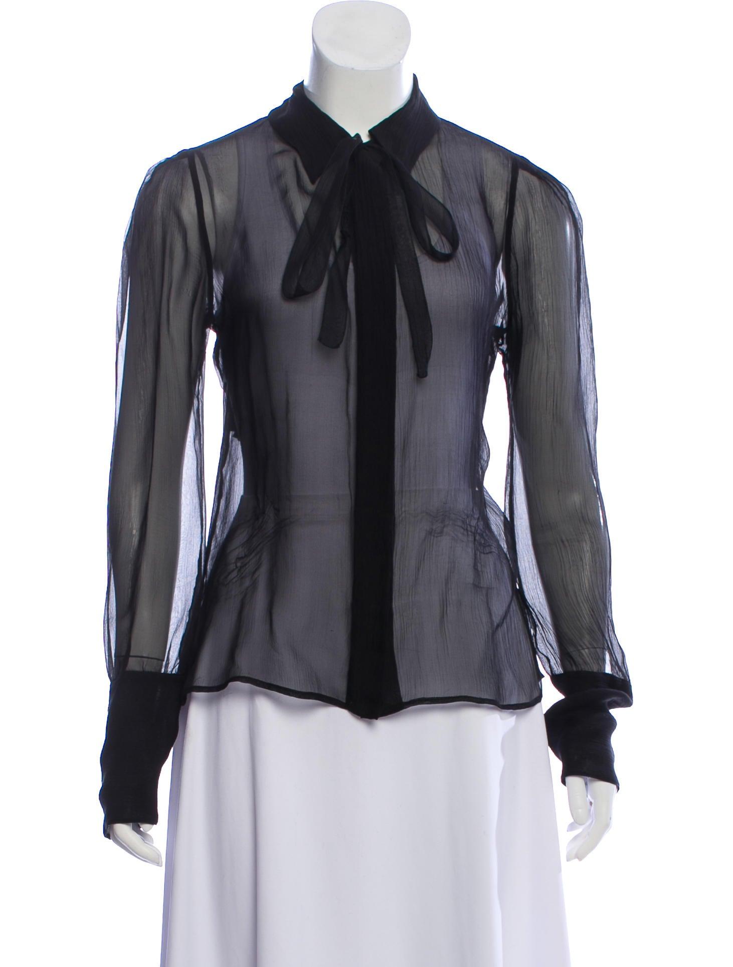 01a727f2db5faa Prada Silk Long Sleeve Top - Clothing - PRA269875