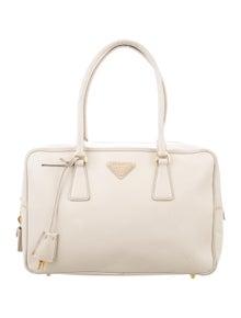 831bd5dbbed Prada. Saffiano Lux Bauletto Bag