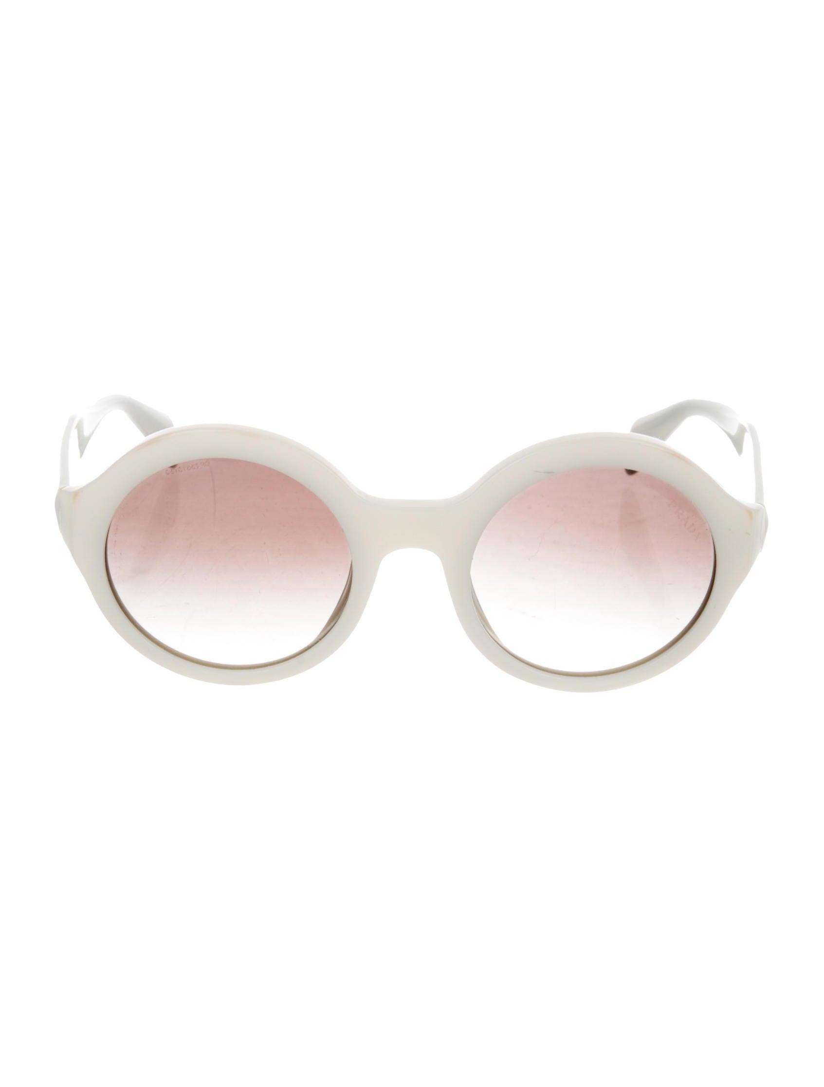 b00fe9cadb Prada Round Gradient Sunglasses - Accessories - PRA271846