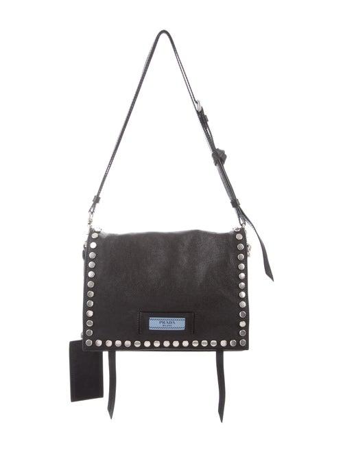 b22067c9077eb1 Prada Small Studded Etiquette Shoulder Bag - Handbags - PRA272771 ...