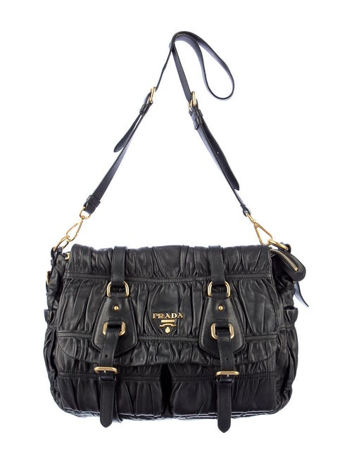 780eaf46975e Prada Nappa Gaufre Messenger Bag - Handbags - PRA27291 | The RealReal