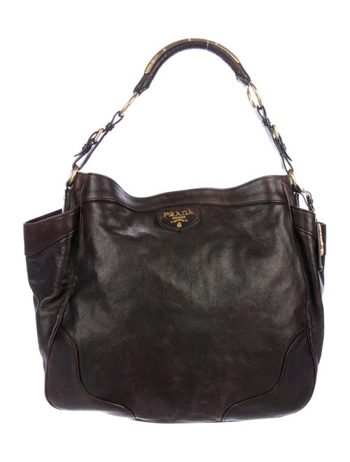c2288c4d0d Prada Glace Calf Side Pocket Hobo - Handbags - PRA273173