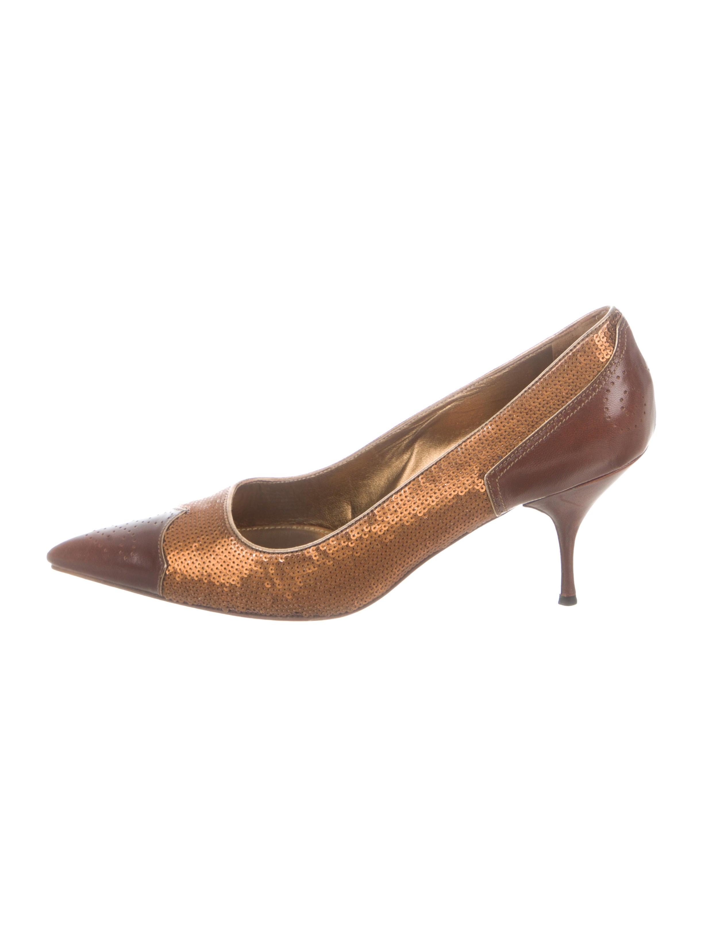 a2d03d46bdaf Prada Sequin Pointed-Toe Pumps - Shoes - PRA273326