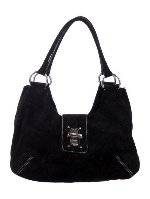 90101dd241 Prada Turn-Lock Scamosciato Shoulder Bag - Handbags - PRA273342 ...
