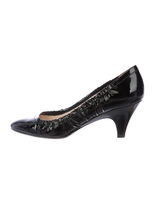 3d5cdc65829 Prada Patent Leather Semi Pointed-Toe Pumps - Shoes - PRA274839 ...