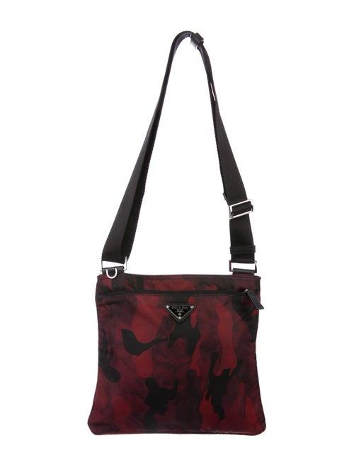 Tessuto Camouflage Messenger Bag by Prada