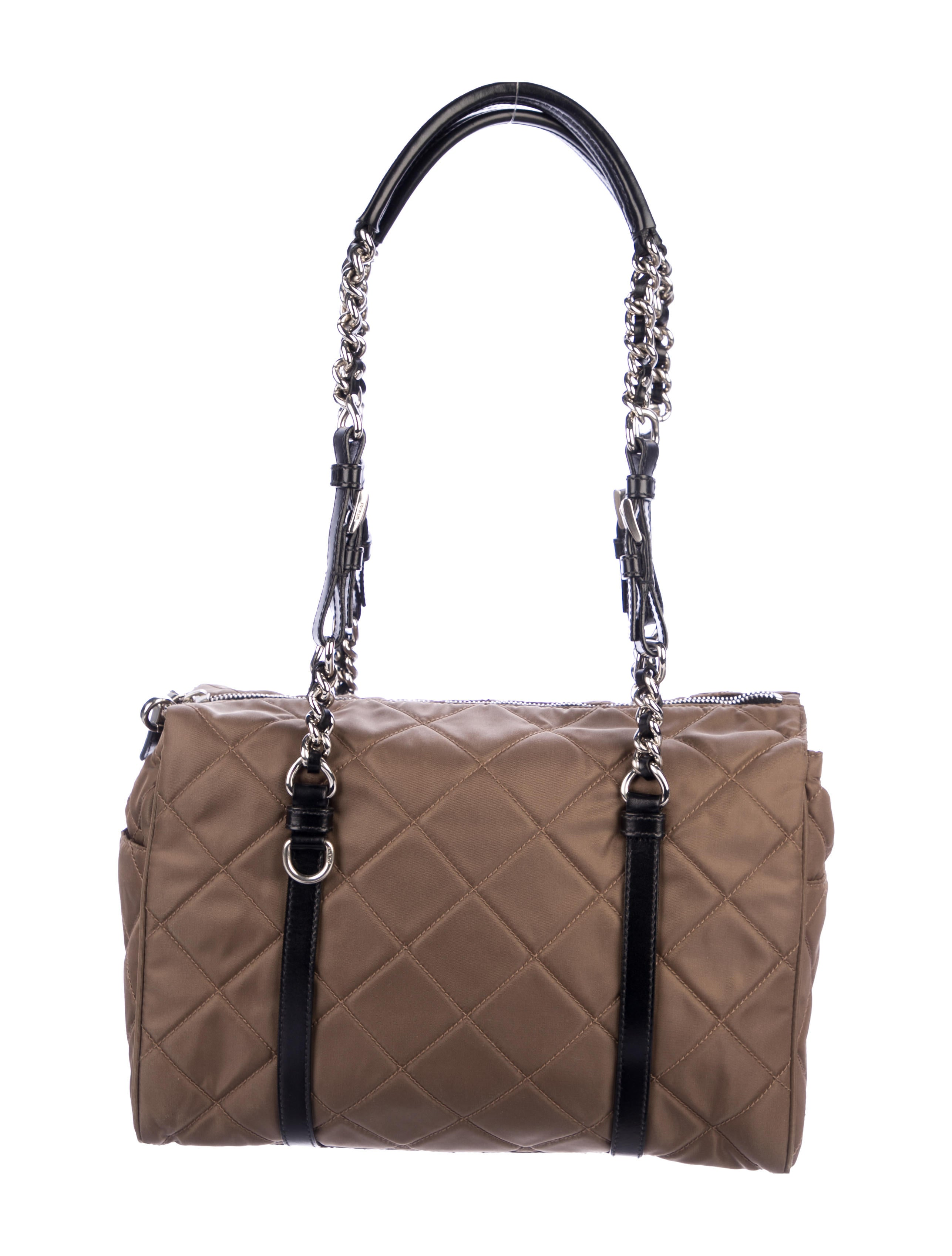 6060fa2ba2ca Prada Quilted Tessuto Shoulder Bag - Handbags - PRA279586
