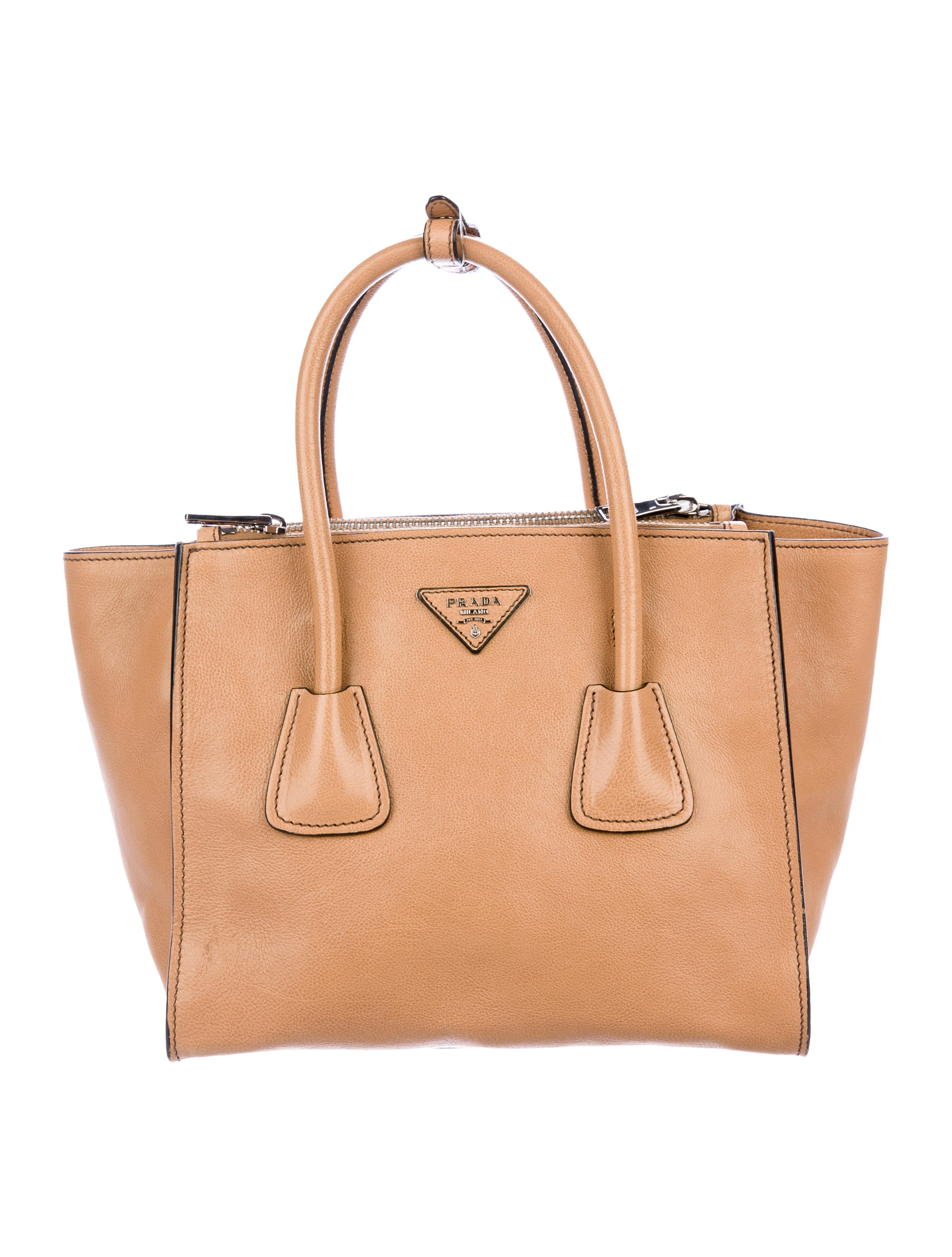 a683e1044eba46 Prada Small Glace Calf Twin Pocket Tote - Handbags - PRA280945 | The ...