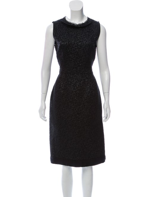 37420b7c498f6 Prada Wool-Silk Midi Dress - Clothing - PRA282480
