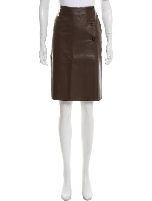 455928d843 Prada Leather Pencil Skirt - Clothing - PRA282774 | The RealReal