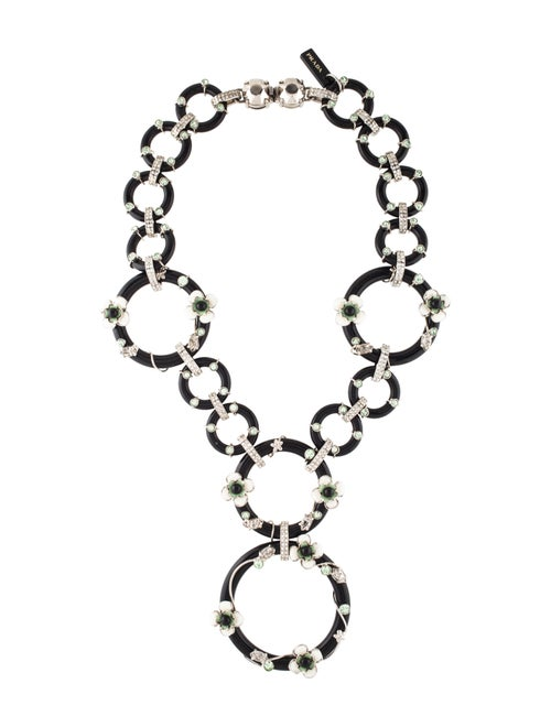 Prada Flower Power Necklace Black