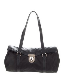 f34e789f8e8e Saffiano-Trimmed Tessuto Messenger Bag. $525.00 · Prada