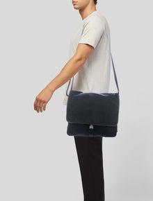 be2d14794aee59 Prada. Saffiano-Trimmed Messenger Bag