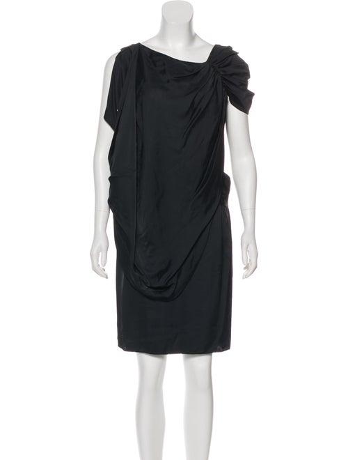 Prada Draped Satin Dress