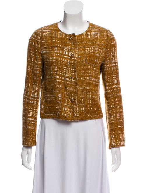 Prada Structured Knit Jacket white