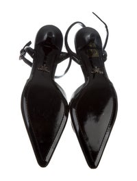Leather Pointed-Toe Pumps image 5