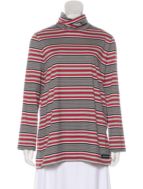 Prada Turtleneck Long Sleeve Top Red