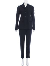 Wool Button-Up Pantsuit image 1