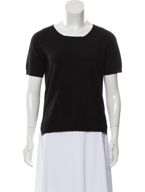 Prada Crew Neck Short Sleeve Sweater Black