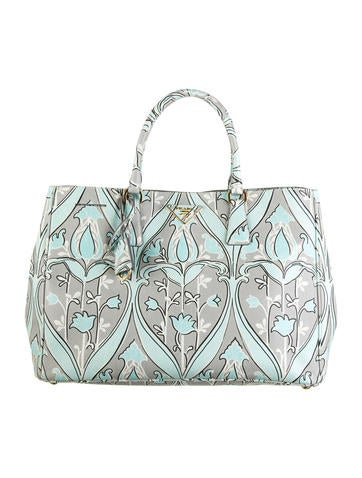 Anise Floral Print Saffiano Tote