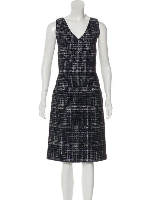 Prada Jacquard Knit Dress Navy
