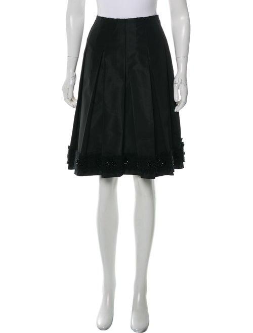 Prada Embellished Pleated Skirt Black